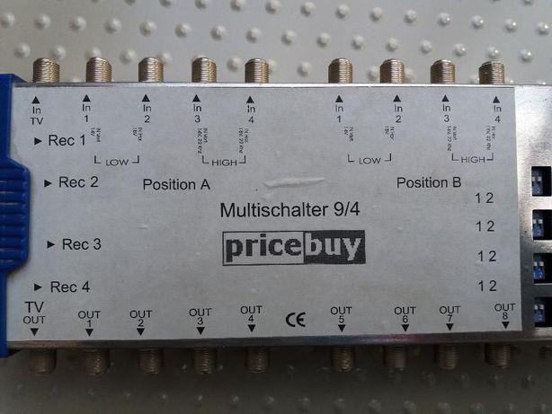 Przełącznik DiSEqC 2.0, pricebuy 9/4, 8 x sat, 1 x ter., 4 x wyjście