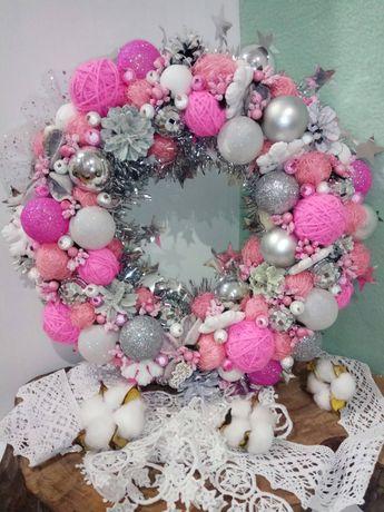 Різдвяний вінок новогодний венок декор