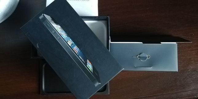 Oryginalne pudełko od iPhone 5 + naklejki