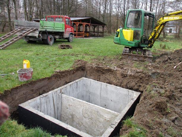 Zbiorniki betonowe piwniczka producent gwarancja atest dowóz montaż