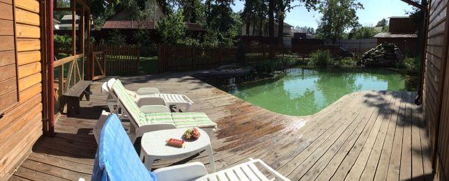 Уютный домик с бассейном,баня на дровах