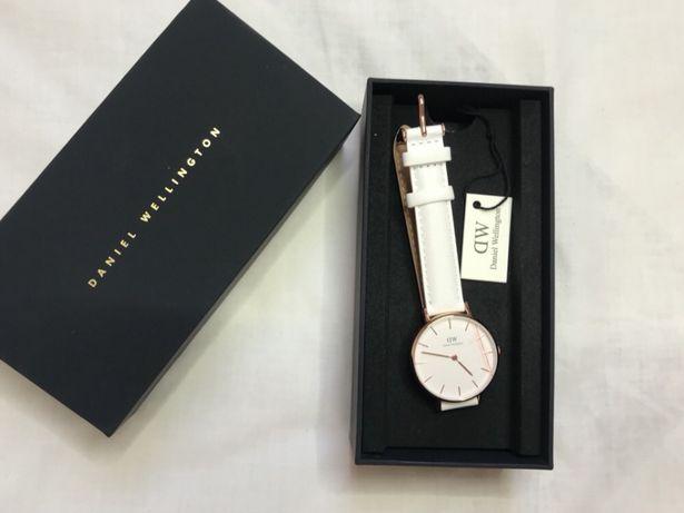 Zegarek daniel wellington orginalny nowy biały pasek skórzany unisex