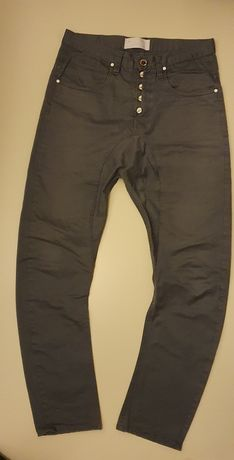 Spodnie męskie młodzieżowe Humör r 34 pas 90cm szare