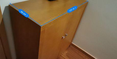 Móvel em faia armário entrada/aparador 2 portas