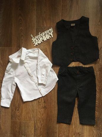 Костюм (рубашка, жилет, брюки) на мальчика 9-12 мес