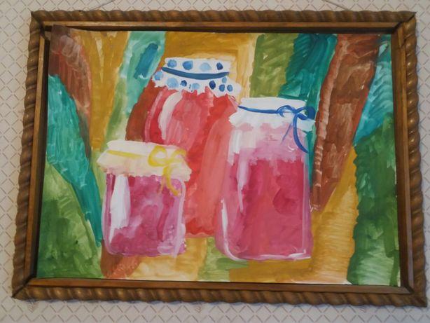 Картина молодого художника (живопись, гуашь)