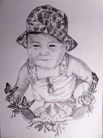 DESENHOS, retratos, quadros, ilustrações a lápis