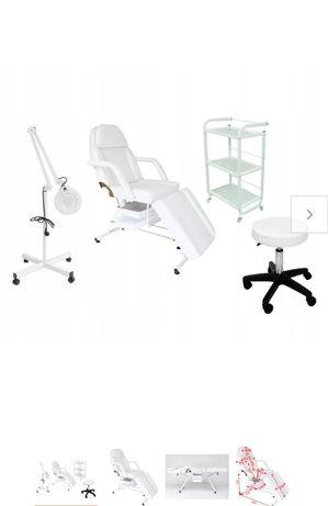 Fotel kosmetyczny z zestawem