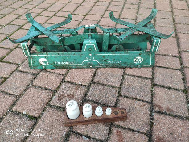 Stara waga zielona - Olsztyn + ciężarki