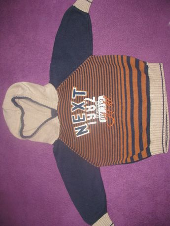 Next sweter z kapturem 86 (12-18 miesięcy)