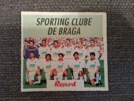 Cromo Autocolante Record Imbativel do Sporting de Braga
