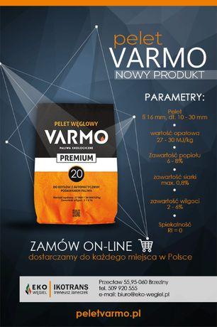 Pelet węglowy VARMO Premium.Suchy opał , worki 20kg - jak ekogroszek