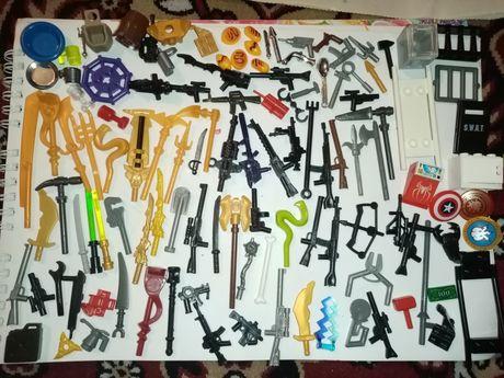 Конструктор лего оружия аксессуары инструмент посуда еда щеты