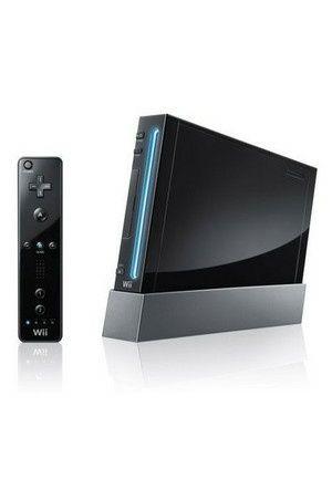 Konsola Nintendo Wii Black Komplet Nunchack Obsługa Gamecube