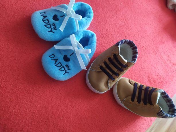 Niechodki 6-9 miesiecy  butki ciapki buciki buty 17 18