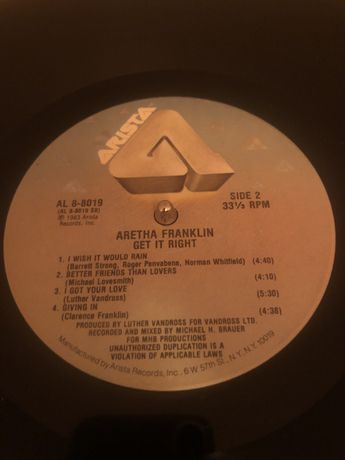 Aretha Franklin – Get It Right LP płyta winylowa