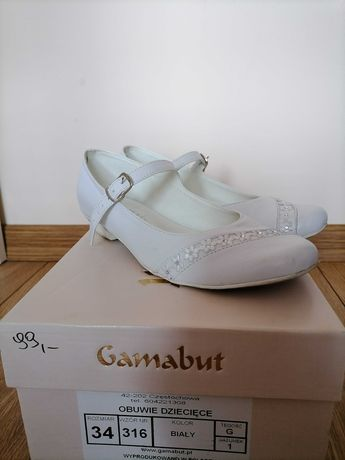 Białe obuwie skórzane dla dziewczynki
