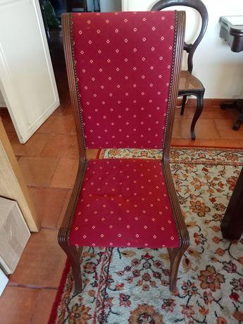 Cadeiras Madeira estofadas