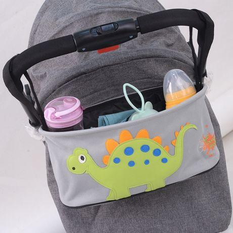 Сумка - багажник для коляски, карман на коляску, с крышкой. Различные.