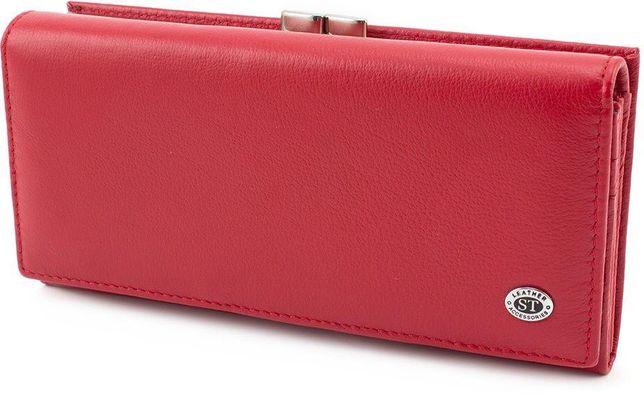 Женский кожаный кошелек с наружной монетницей ST Leather