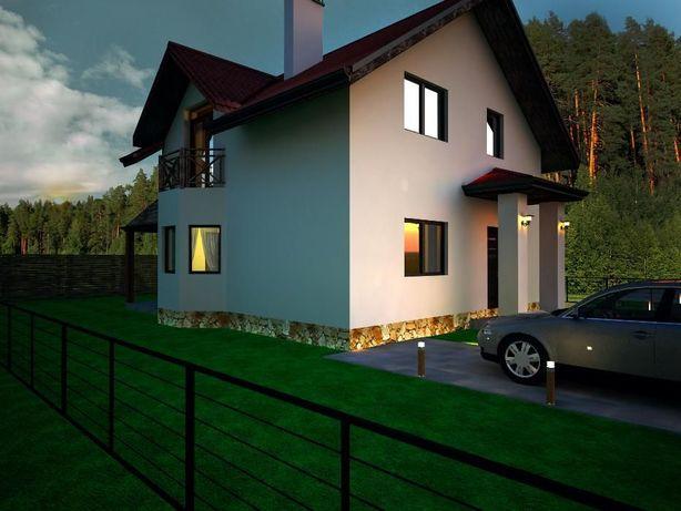 """Продам дом """"Успех"""" в заселенном коттеджном городке с. Горенка"""