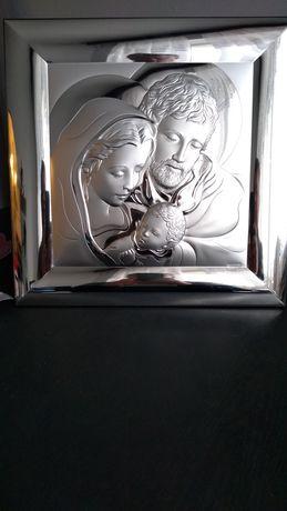 Obraz srebrny Święta Rodzina