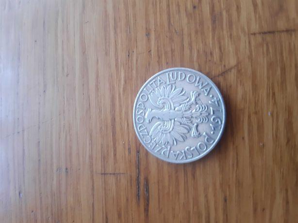 Moneta  5 zl Rybak 74 r