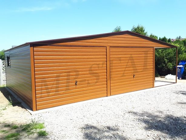 Garaże PREMIUM z wiatą boczną