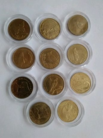 Monety kolekcjonerskie 2zl Zwierzęta swiata(11szt)