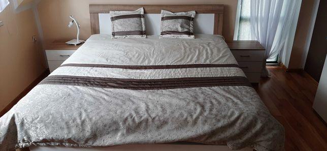 Łóżko 180x200 z dwoma materacami, z szafkami, zestaw z Niemiec