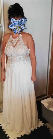 Sukienka długa biała