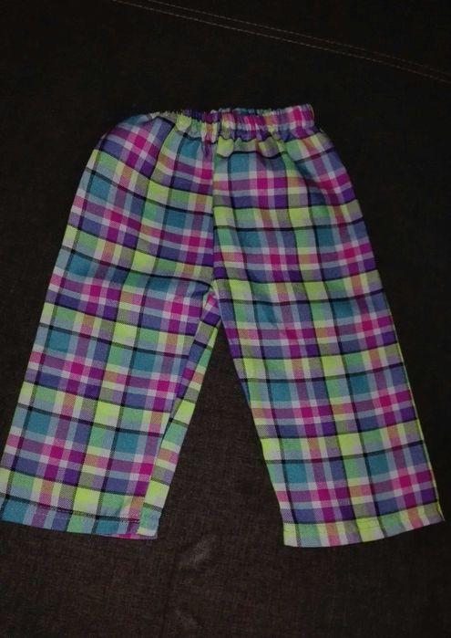 Spodnie w kratkę kolorowe dla dziewczynki Baranów Sandomierski - image 1