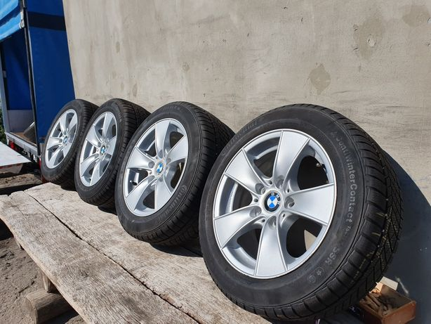 Original диски сзимней резиною Титани R16 5/120 BMW 1 3 E90 5 T5 T6