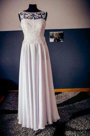 Suknia ślubna biała 2w1 w bolerku lub bez