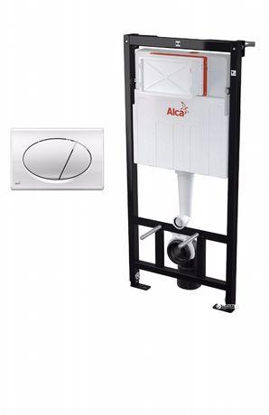 Інсталяція туалет Alcaplast +кнопка хром