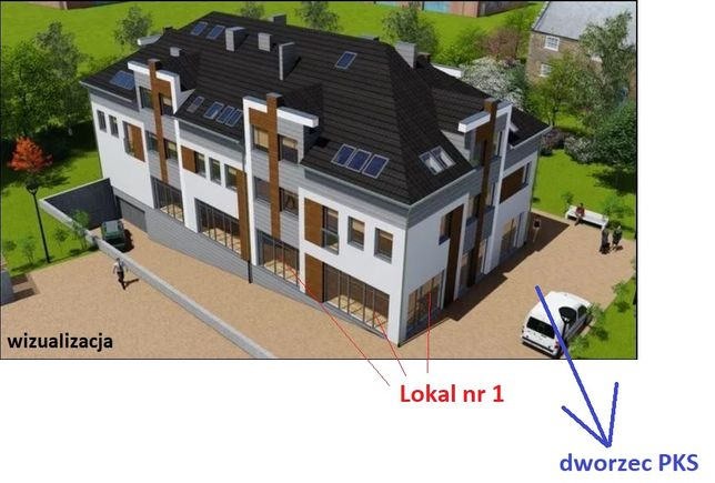 Lokal handlowo-usługowy, biuro na dworcu PKS - 68 m2