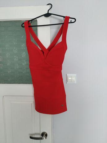 Bluzka czerwona marki Lipsy London rozm. UK 12 (40)