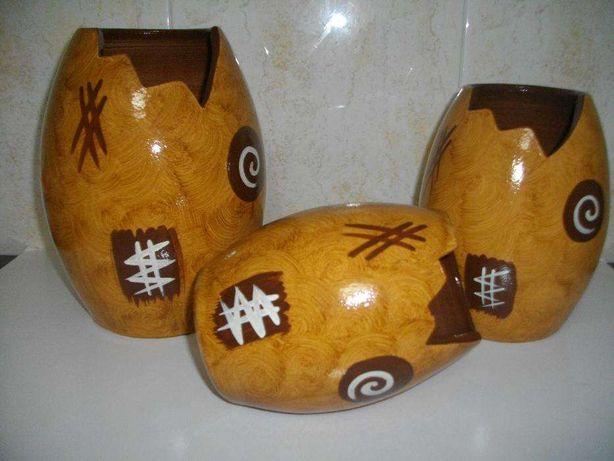 3 vasos de decoração