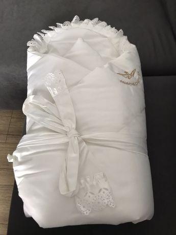 Rożek bialy do chrztu