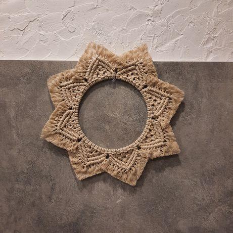 Mandala,Gwiazda, makrama, ozdoba, handmade, boho