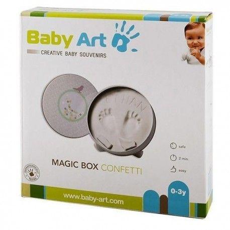 Nowy Baby Art Magic Box Confetti odcisk ręka stopa prezent baby shower
