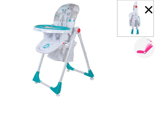 Cadeira alta dobrável evolutiva