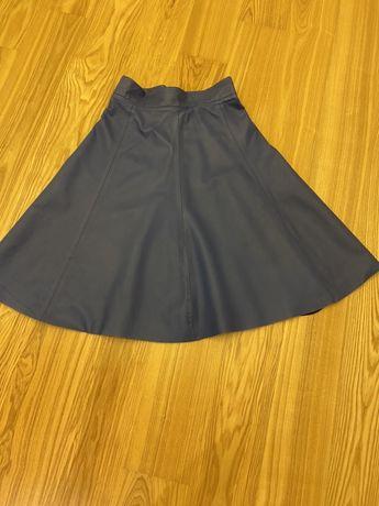 Skórzana spódnica simple