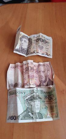 Banknoty polskie 1982r 500zł, 100zł, 50zł