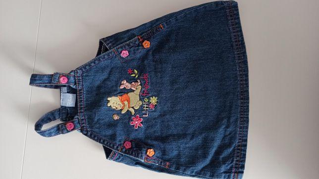 Sukienka jeansowa roz 62 Disney