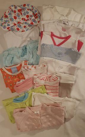 Śliczny zestaw ubranek dla dziewczynki Rozmiar 62-68