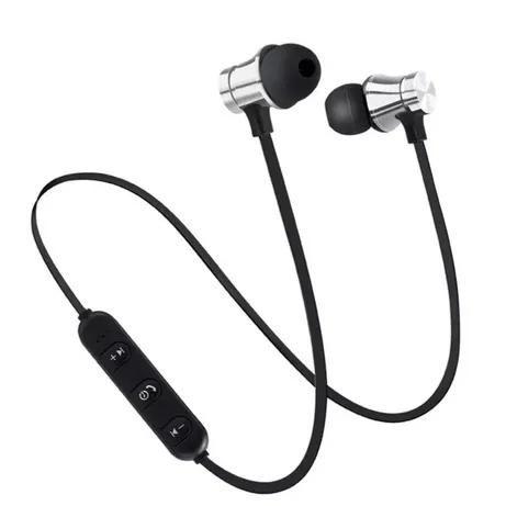 Магнитные Беспроводные спортивные Bluetooth наушники с микрофоном.