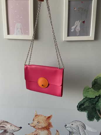 Torebka skórzana Batycki nowa skóra torba damska kopertówka róż różowa