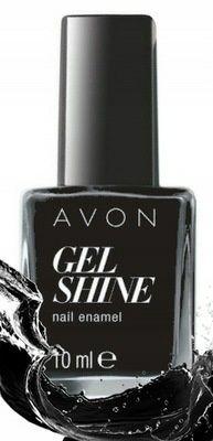 Żelowy lakier do paznokci Avon TOTAL ECLIPSE czarny