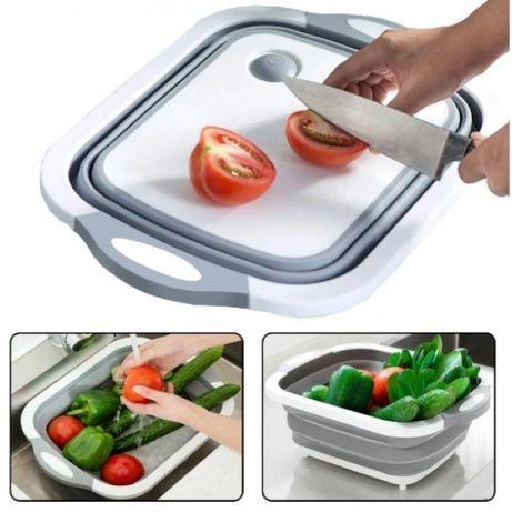 Дошка-миска універсальна складна 2в1  для кухні ,для їжі
